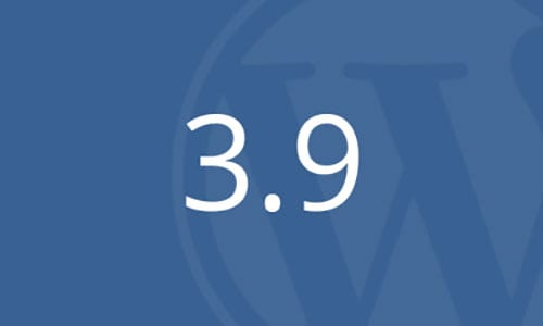 WordPress 3.9 is now out